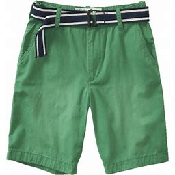 Aeropostale Mens Casual Flat Front Solid Colored Shorts, Men's, Green