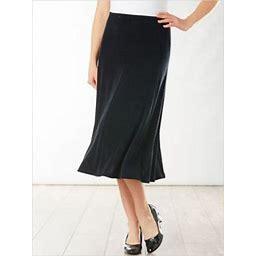 Draper's & Damon's Women's Plus Signature Knits® Gored Skirt, Black 1X