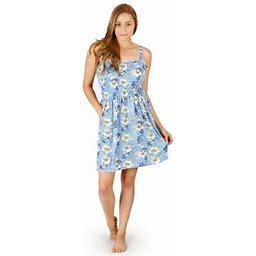 M&M Scrubs Sundress Print Khee High - Terry - Tank Top Women Dress, Women's, Size: XS, Blue