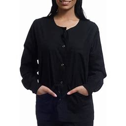 Sherly Uniforms Womens Warm Up Jacket, Women's, Size: Small, Black