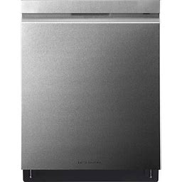 LG - SIGNATURE Top Control Built-In Dishwasher With Stainless Steel Tub, Truesteam, 3rd Rack, 38Dba - Textured Steel