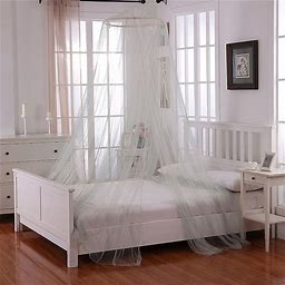 Oasis Round Hoop Sheer Bed Canopy In Sage - Epoch Hometex Inc. - Bed Curtains & Canopies - Bed Canopy - Sage