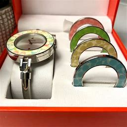 Coach Jewelry | Coach Watch With Interchangeable Rim Accents | Colo...