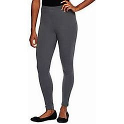 Women With Control Tall Fit Pull-On Knitleggings, Size Tall XX-Small, Smoke