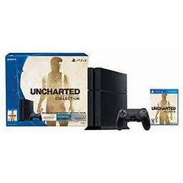 Playstation 4 500gb Console - Uncharted: The Nathan Drake Collection Bundle (Physical Disc), Black