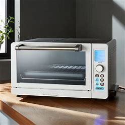 Cuisinart ® Deluxe White/Stainless Steel Convection Toaster Oven Broiler | Crate & Barrel