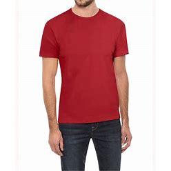 Men's Basic Crew Neck Short Sleeve T-Shirt - Red