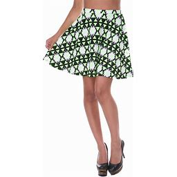 White Mark Women's Triangles Heidi Skirt - Green