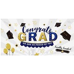 Ounona Graduation Photo Backdrop Unique Short Plush Photography Banner Party Decoration For Banquet Congratulation Graduation, Size: 200, Black