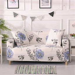 Stretch Sofa Slip Covers Floral Couch Cover Furniture Protector 1-4 Seater, Size: 3 Seater: 190-230 Cm, Gray
