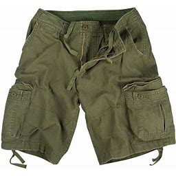 Rothco Vintage Olive Drab Utility Cargo Shorts Mens Sizes, Men's, Size: XS, Green