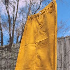 Inherit Skirts | Mustard Inherit Midi Skirt 29 | Color: Gold/Yellow | Size: 4