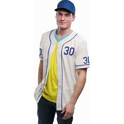 Benny The Jet Rodriguez Sandlot Adult Costume | Adult | Mens | Beige/Blue/Yellow | M | FUN Costumes