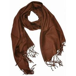 Large Solid Color Pashmina Shawl Wrap Scarf 78 Inch X 28 Inch, Women's, Size: One Size, Brown