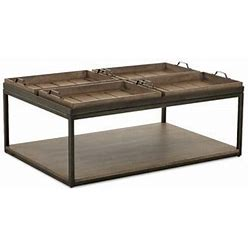 Trisha Yearwood Home Collection Trisha Yearwood Home Coffee Table In Gray   Size 19.31 H X 48.0 W X 32.0 D In   TISH1402_40413959