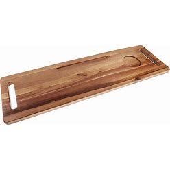 Haven Acacia Wood Tub Tray - Haven - Shower Caddies - Tub Caddy - Acacia