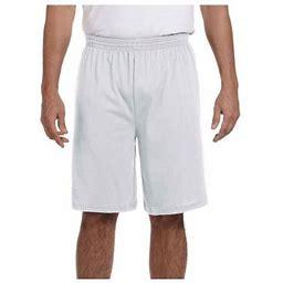 Augusta Sportswear Men's Longer Length Jersey Short, Style 915, Size: Small, Gray