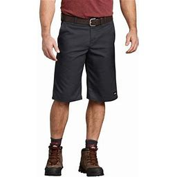 Genuine Dickies Mens 13 Inch Relaxed Fit Flex Multi-Use Pocket Short, Men's, Size: 44, Black