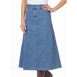 Denim A-Line Skirt - Plus Size - 24 Women - Light Denim AmeriMark