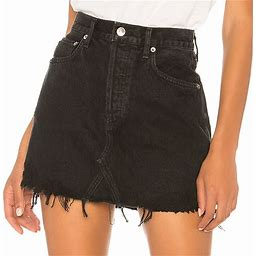 Agolde Skirts | Agolde Quinn High Rise Skirt In Black 31 | Color: Black | Size: 31