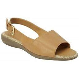 Comfortview Women's Wide Width The Adele Sling Sandal Sandal, Size: 7 1/2 W, Brown