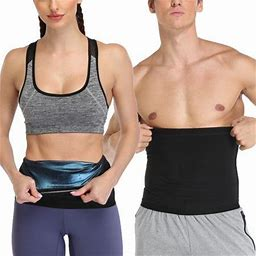 Sweat Sauna Shaper Waist Trimmer For Women/Men, Waist Trainer Belt, Neoprene-Free Waist Cincher, Sauna Slimming Belt, Size: 2XL/3XL, Black