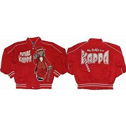 Cultural Exchange Big Boy Kappa Alpha Psi Future Kappa Divine 9 Kids Twill Jacket [Crimson Red - L], Boy's, Size: Large (9/10)