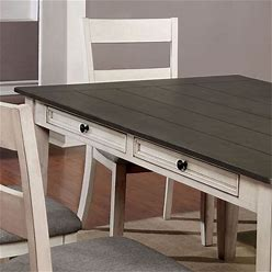 Furniture Of America Markher Wood 5-Piece Dining Table Set In Antique White - IDF-3715T-5PC