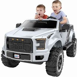 Power Wheels Ford F-150 Raptor Extreme 12-v Ride-On Truck, Green