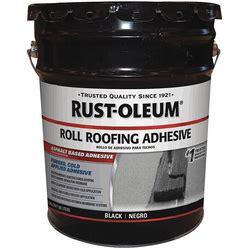 Rust-Oleum Roll Roofing Adhesive,4.75 Gal Model: 347432