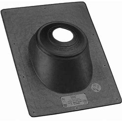 Oatey Roof Vent Flashing, Rubber Collar Type, Number Of Pipes 1, 3 To 4 Pipe Size (In.) Model: 11920