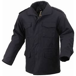 Rothco Black Ultra Force M-65 Field Jacket - 4XL, Adult Unisex