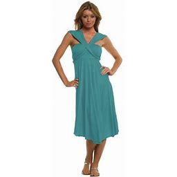 Vivian's Fashions Dress/Skirt - Twist Wrap, 10 Ways To Wear, Women's, Size: Medium, Blue