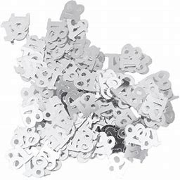Ounona 600pc Monochrome Digital Birthday Confetti Party Happy Throwing Sequins Age 18 For Festival Party Decoration (Silver), Adult Unisex, Size: One