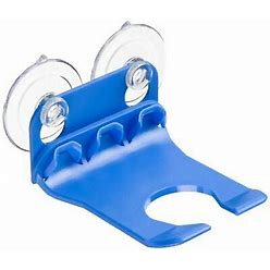Wave Hooks - Bathtub Wine Glass Holder - Blue