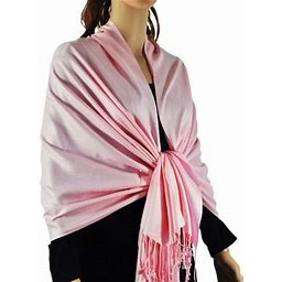 Large Solid Color Pashmina Shawl Wrap Scarf 78 Inch X 28 Inch, Men's, Size: One Size, Pink