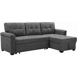 Copper Grove Arogundade Woven Fabric Reversible Sectional Sofa Sleeper - Gray