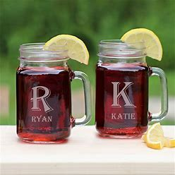 Personalized Mason Jar Glass With Name - Engraved Glass Gifts - Gifts For Him - Gifts For Her