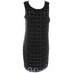 Studio M Womens Black Sleeveless Lace Overlay Dress XS, Women's