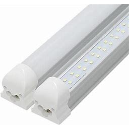 8FT LED Integrated Tube, LED Shop Light, 60W, With Cables And Clips Stripe