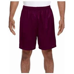 A4 Men's Comfort 7 Inch Lined Tricot Mesh Wicking Short, Style N5293, Size: 3XL, Red