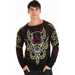Voodoo Skull Halloween Sweater For Adults | Adult | Unisex | Black/Green/Purple | XL | FUN Wear
