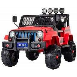 Uenjoy 12V Kids Ride On Toys Electric Battry-Powered Ride-On Truck Car RC Toy W/ Remote Control 2 Speed Camouflage Red, Size: Normal Truck