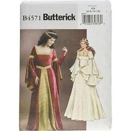 Butterick B4571 Women's Medieval Dress Renaissance Fair Costume Sewing Pattern, Sizes 6-12