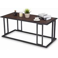 Goplus Costway Coffee Composite End Table In Brown | OGY00548