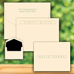Personalized Stationery: Four Seasons Premium Flat Or Fold Notes - Embossed Stationery