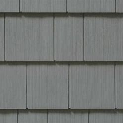 Cedar Impressions Double 7 Inch Straight Edge Perfection Shingles Siding (1/2 Square) Charcoal Gray
