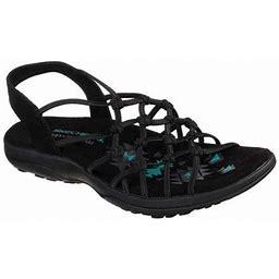 Skechers Reggae Slim Forget Me Knot Slingback Sandal (Women's), Size: 6 Medium, Black
