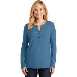 Port Authority Women's Concept Henley Tunic - Dusty Blue - XS - LK5432