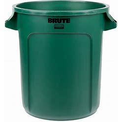 Rubbermaid FG261000DGRN BRUTE Green 10 Gallon Round Trash Can